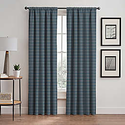 Emerson Stripe 95-Inch Rod Pocket/Back Tab Window Curtain Panel in French Blue