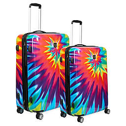 Ful® Tie-Dye Swirl Hardside Spinner Checked Luggage