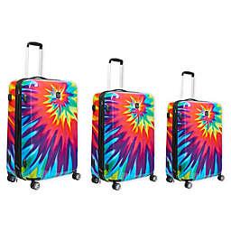 Ful® Tie-Dye Swirl 3-Piece Hardside Spinner Luggage Set