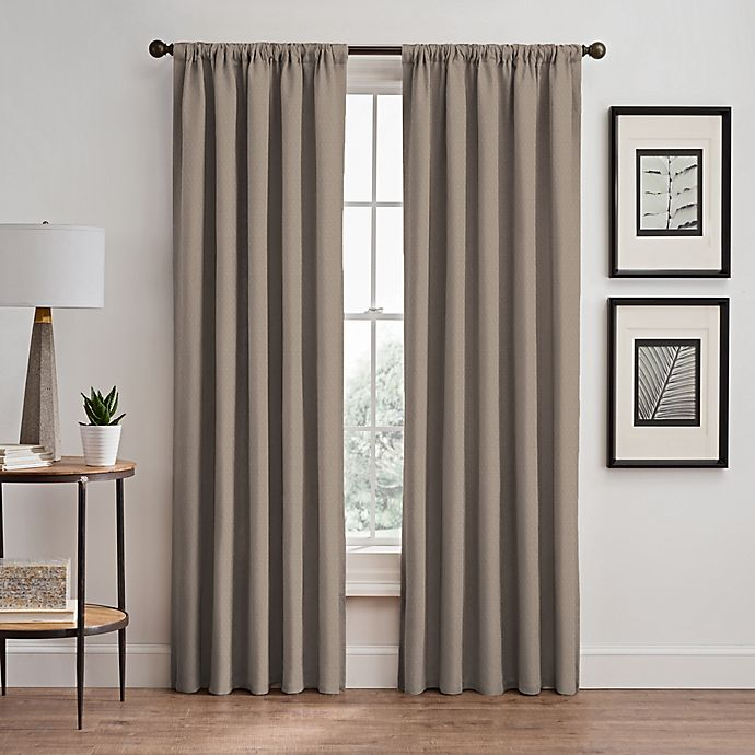 Alternate image 1 for Stellar 63-Inch Rod Pocket/Back Tab Room-Darkening Window Curtain Panel in Blush