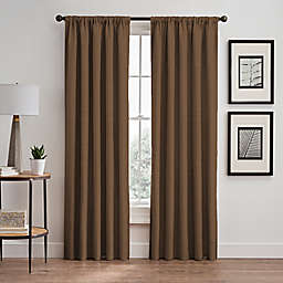 Stellar 84-Inch Rod Pocket/Back Tab Room-Darkening Window Curtain Panel in Wheat