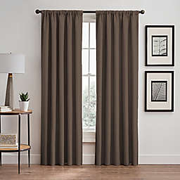 Stellar 63-Inch Rod Pocket/Back Tab Room-Darkening Window Curtain Panel in Mocha