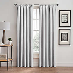 Stellar 108-Inch Rod Pocket/Back Tab Room-Darkening Window Curtain Panel in White