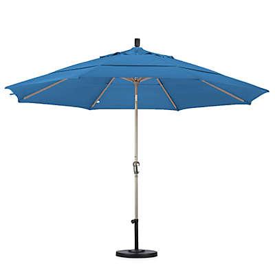 California Umbrella 11-Foot Auto Tilt Champagne Pole Market Umbrella
