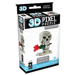BePuzzled Skull & Rose 230-Piece 3D Pixel Puzzle