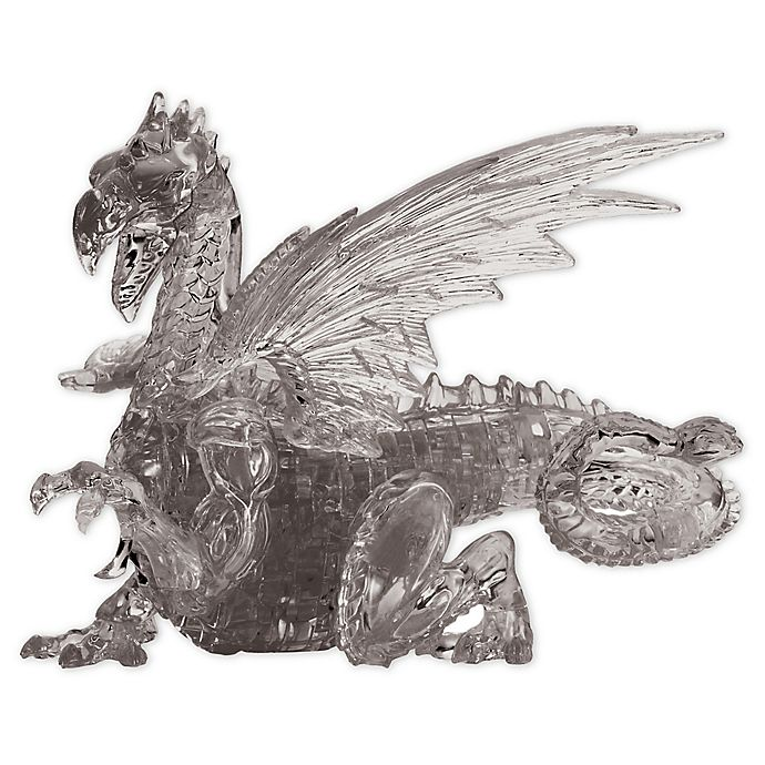 Alternate image 1 for BePuzzled Black Dragon 56-Piece 3D Crystal Puzzle