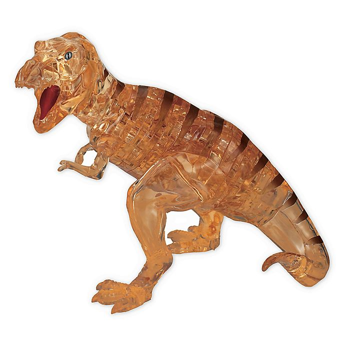 Alternate image 1 for BePuzzled Brown T-Rex 49-Piece 3D Crystal Puzzle