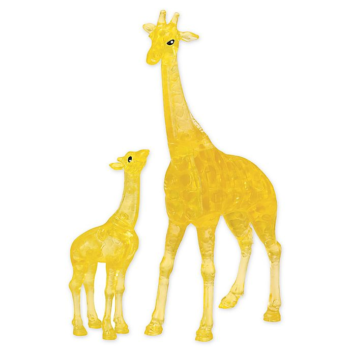 Alternate image 1 for BePuzzled Giraffe and Baby 38-Piece 3D Crystal Puzzle