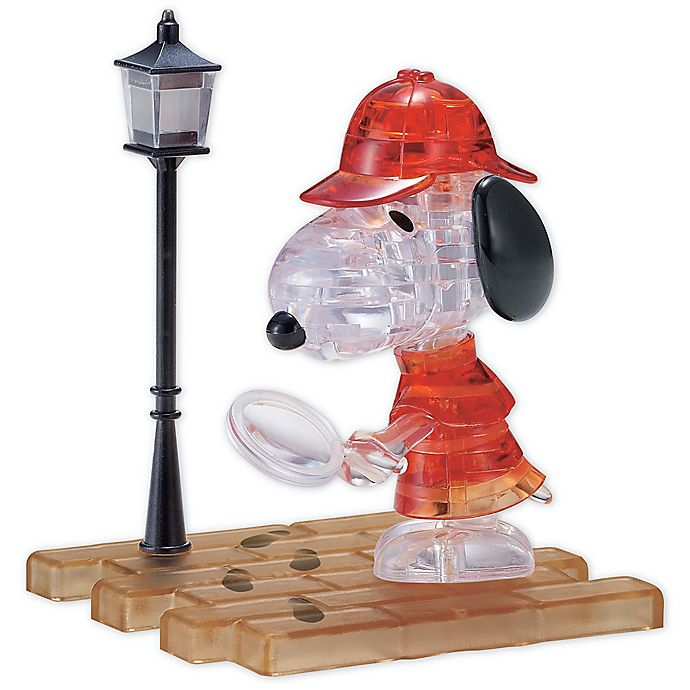 Alternate image 1 for BePuzzled Detective Snoopy 34-Piece 3D Crystal Puzzle