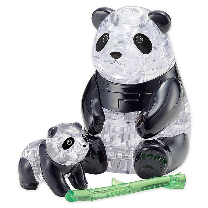 Alternate image 1 for BePuzzled Panda and Baby 50-Piece 3D Crystal Puzzle