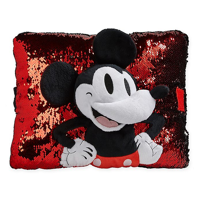 Alternate image 1 for Pillow Pets® Disney® 90th Anniversary Red Sequin Mickey Mouse