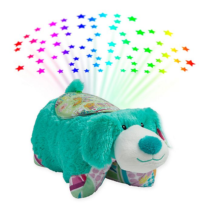 Alternate image 1 for Pillow Pets® Colorful Teal Puppy Pillow Pet with Sleeptime Lite™