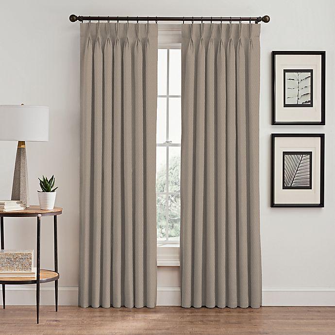 Alternate image 1 for Stellar 108-Inch Pinch Pleat Window Curtain Panel in Blush