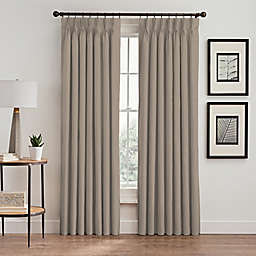 Stellar 108-Inch Pinch Pleat Window Curtain Panel in Blush
