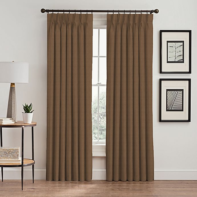 Alternate image 1 for Stellar 63-Inch Pinch Pleat Window Curtain Panel in Wheat