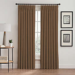 Stellar 84-Inch Pinch Pleat Window Curtain Panel in Wheat