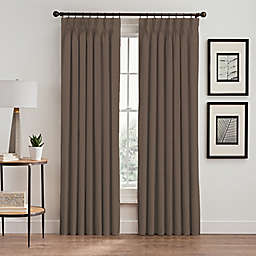 Stellar 108-Inch Pinch Pleat Window Curtain Panel in Mocha