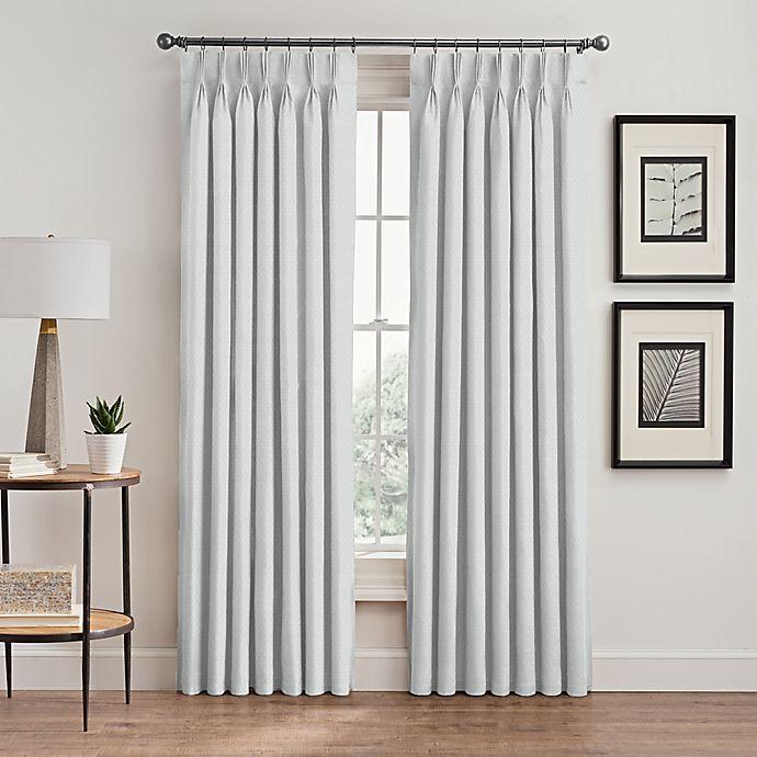 Alternate image 1 for Stellar 63-Inch Pinch Pleat Window Curtain Panel in White