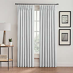 Stellar 63-Inch Pinch Pleat Window Curtain Panel in White