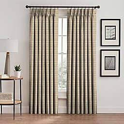 Emerson Stripe Pinch Pleat Window Curtain Panel