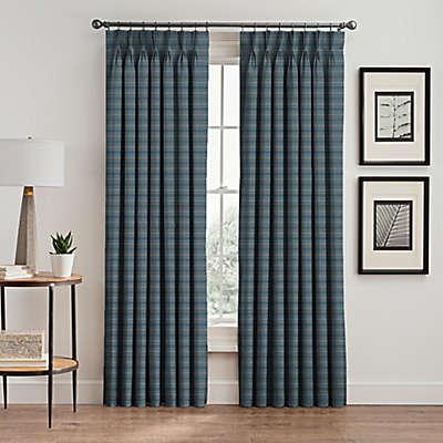 Emerson Stripe Pinch Pleat Window Curtain Panel