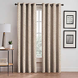 Isolde Leaf Embroidery 108-Inch Grommet Window Curtain Panel in Ivory