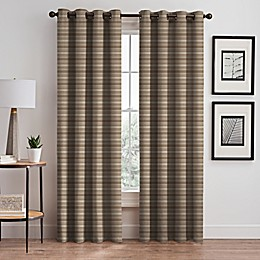 Emerson Stripe Grommet Window Curtain Panel