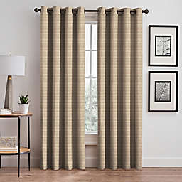 Emerson Stripe Grommet 84-Inch Window Curtain Panel in Natural