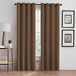 Stellar 63-Inch Grommet Room-Darkening Window Curtain Panel in Wheat