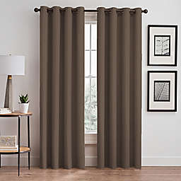 Stellar 84-Inch Grommet Room-Darkening Window Curtain Panel in Mocha