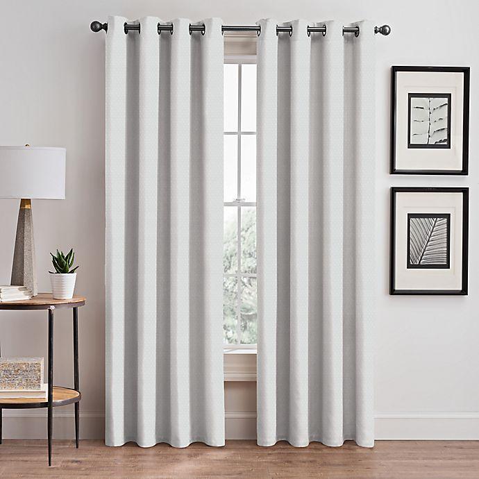 Alternate image 1 for Stellar 63-Inch Grommet Room-Darkening Window Curtain Panel in White