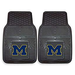 University of Michigan Heavy Duty 2-Piece Vinyl Car Mat Set