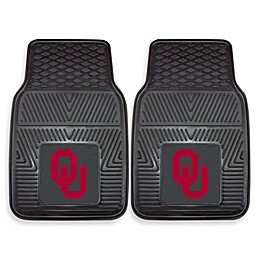 University of Oklahoma Heavy Duty 2-Piece Vinyl Car Mat Set