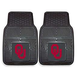 University of Oklahoma Heavy Duty 2-Piece Vinyl Car Mat Set