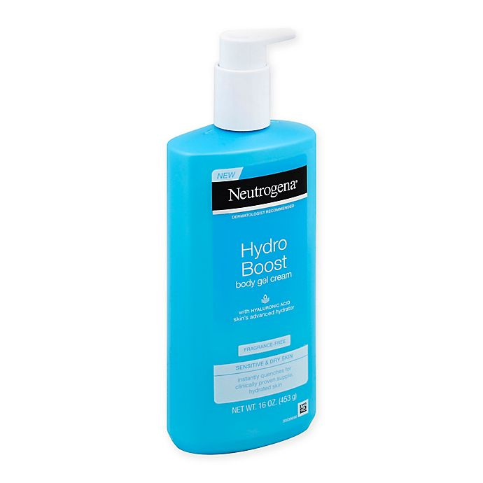 Alternate image 1 for Neutrogena® 16 fl.oz. Hydro Boost Body Gel-Cream with Hyaluronic Acid Fragrance-Free