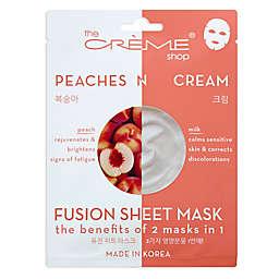 The Crème® Shop Peaches & Cream Fusion Sheet Mask