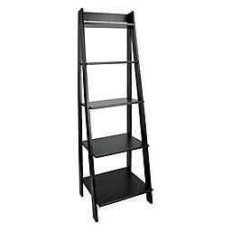 Adeptus Etager 5-Tier Ladder Shelf Unit in Black