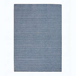 Calvin Klein Newark Stripes 5'3 x 7'5' Area Rug in Blue