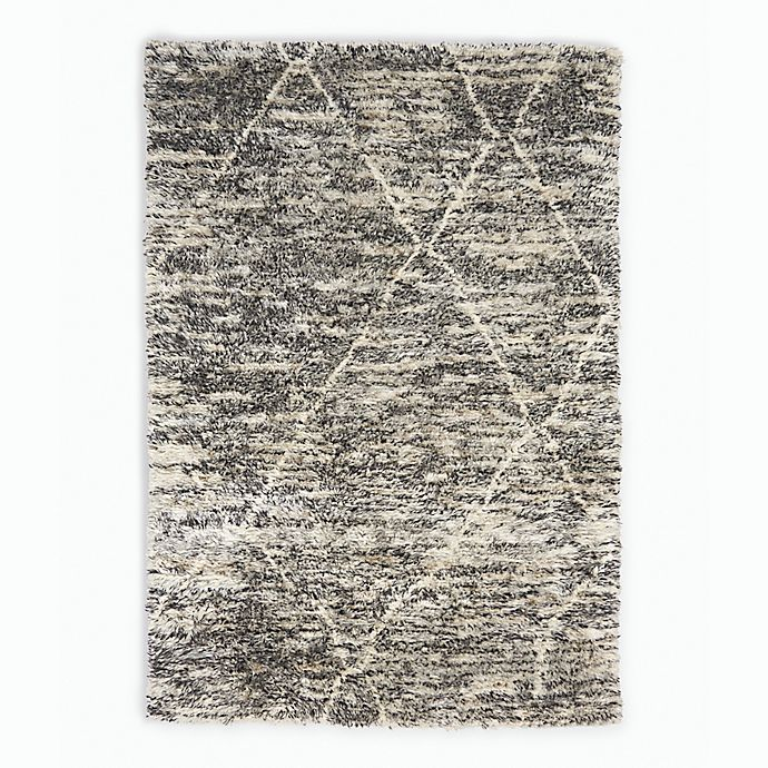 Alternate image 1 for Calvin Klein® San Antonio Lines Area Rug in Charcoal/Ivory