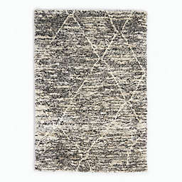 Calvin Klein® San Antonio Lines Area Rug in Charcoal/Ivory