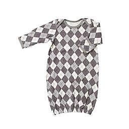 Bestaroo One-Size Argyle Gown in Grey