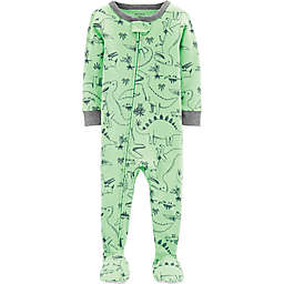 carter's® Dinosaur Footed Pajamas in Green