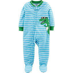 carter's® Dinosaur Footed Pajamas in Light Blue