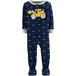 carter's® Toddler Construction Truck Snug-Fit Cotton Pajama in Navy