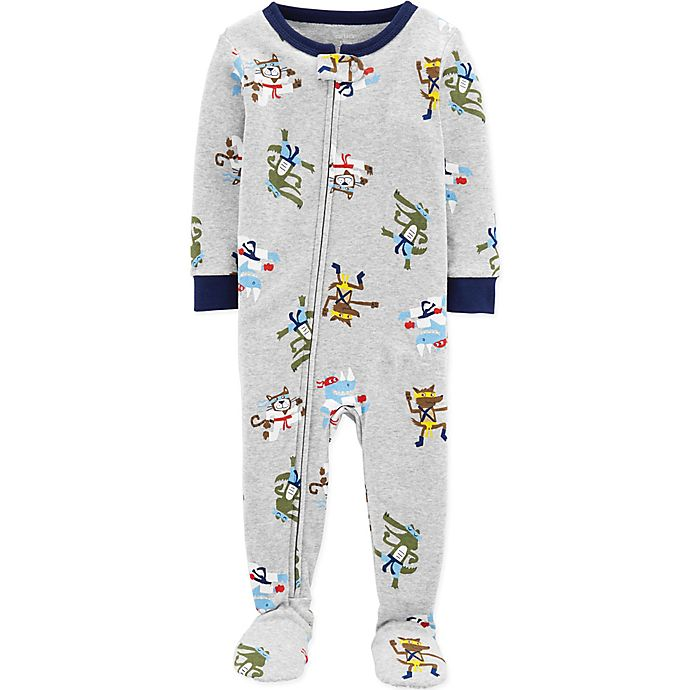 a29eeced1db1 carter s® Ninja Snug-Fit Cotton Pajama in Grey