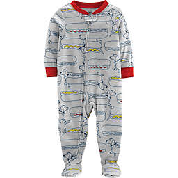 carter's® Hot Dog Snug-Fit Cotton Pajama in Grey