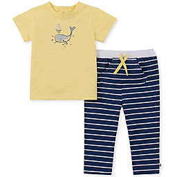 Absorba® 2-Piece Whale T-Shirt Set in Yellow
