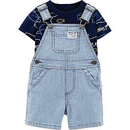 carter's® 2-Piece Shirt and Shortalls in Chambray