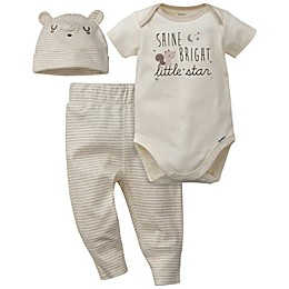Gerber® Preemie 3-Piece Stripe Star Organic Cotton Bodysuit, Pant, and Hat Set