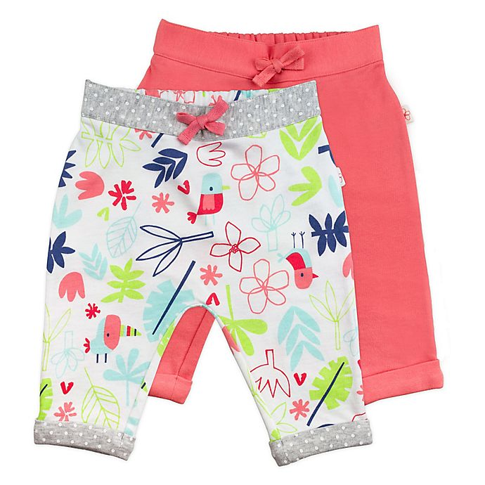 Alternate image 1 for Mac & Moon 2-Pack Floral Pants